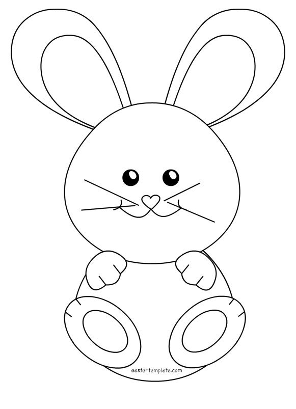 Little Rabbit Easy Bunny Drawing Bunny Coloring Pages Easter Bunny Colouring