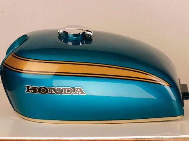 Classic Honda Pinstriping Conference Weekend Motorcycling Cafe Racer Tank Bike Tank Honda Cb