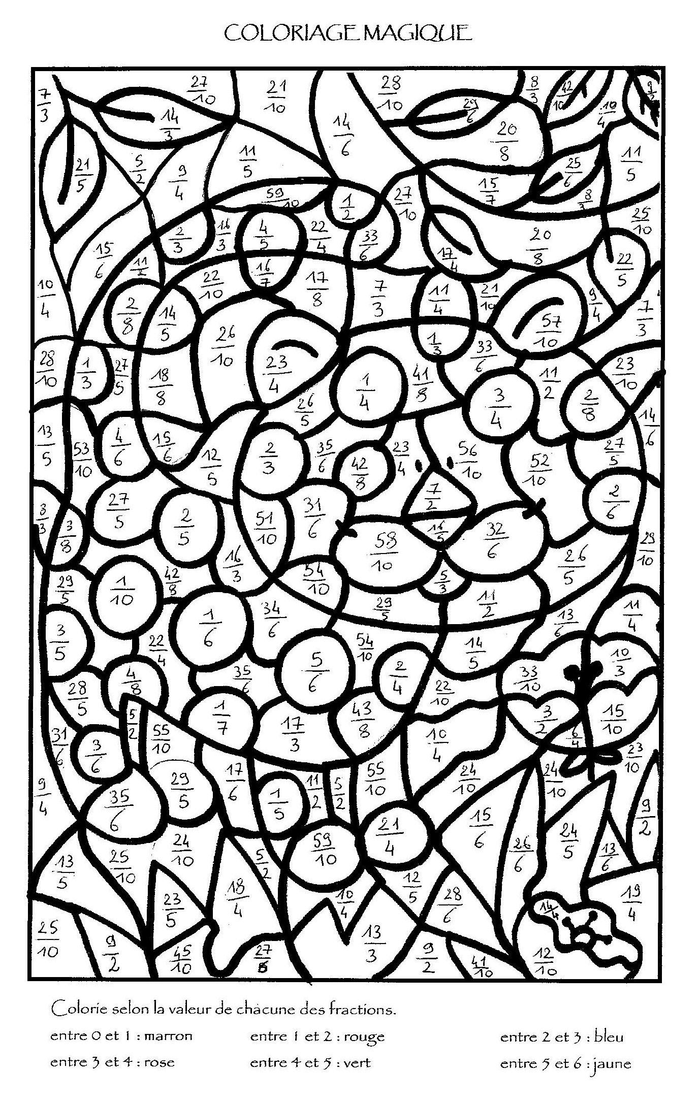 Coloriage magique multiplication colorier dessin - Coloriage magique calcul ce1 ...