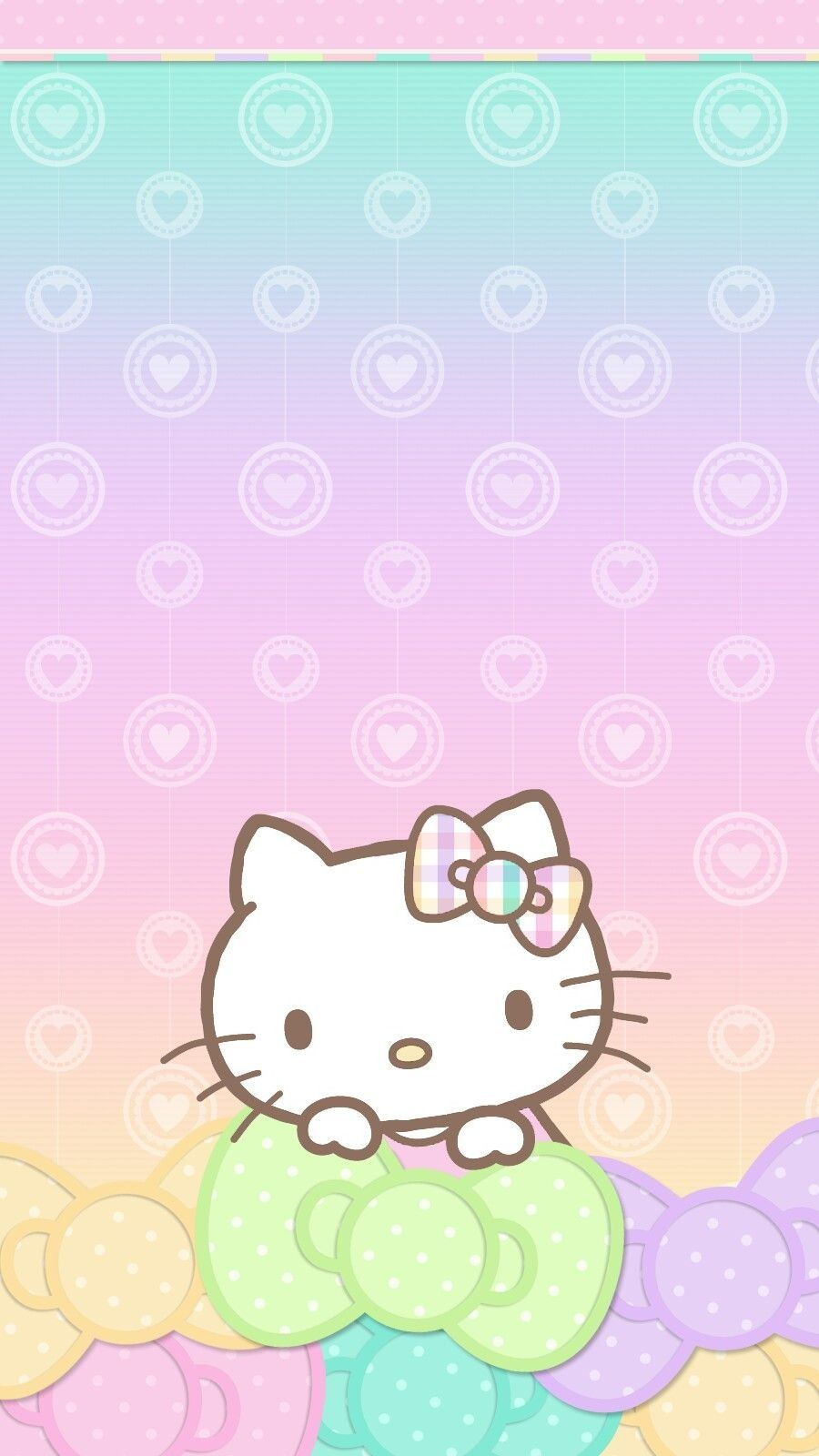 Pastel Valentine Wallpaper Iphone Android Hello Kitty Throughout