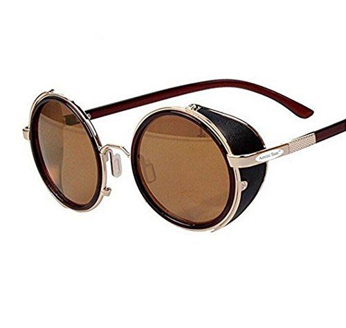 db664b0ee03 Arctic Star 80 s Style Vintage Style Inspired Classic Round Sunglasses Very  Popular (Golden frame)
