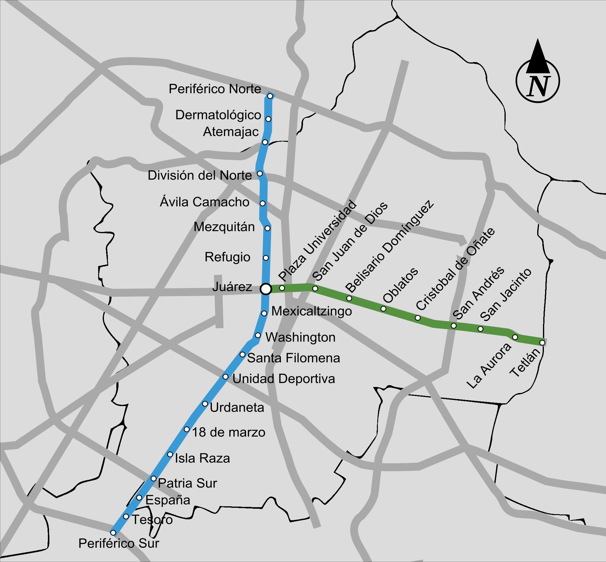 #Guadalajara ist die zweitgrößte Stadt in Mexiko und die Hauptstadt von Jalisco. Wie in den meisten Städten mit einem rapiden Wachstum, hatte der Verkehrsstau keine andere Lösung, als ein Stadtbahnsystem zu bauen, das den größten Teil seiner Route unterirdisch fährt.  U-bahn