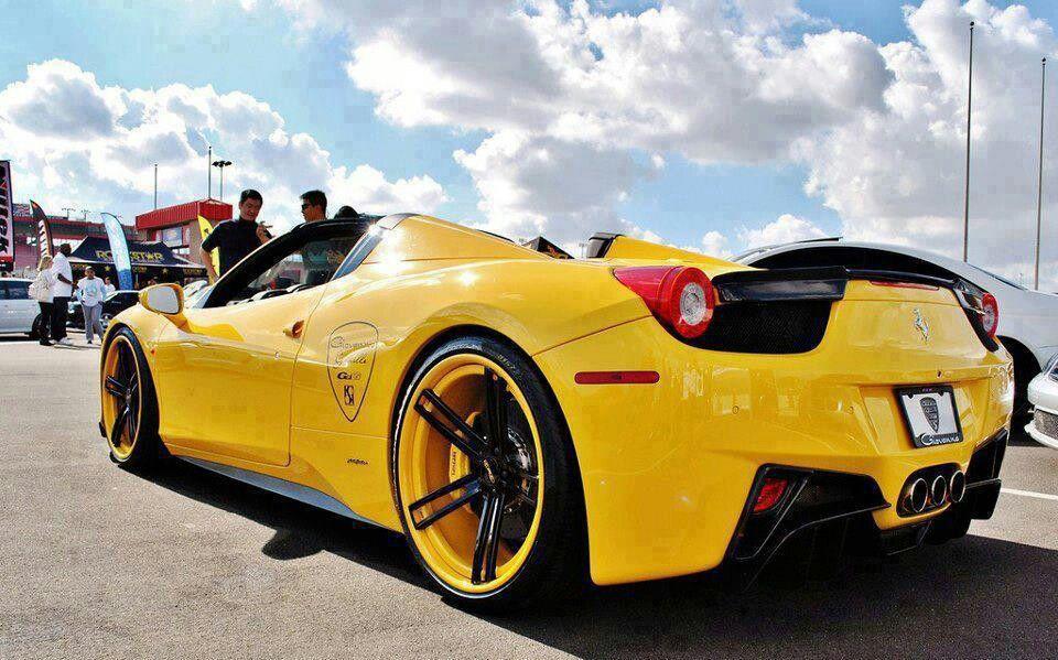 Tastefully Customized Ferrari 458 Spider Super Cars Ferrari Car