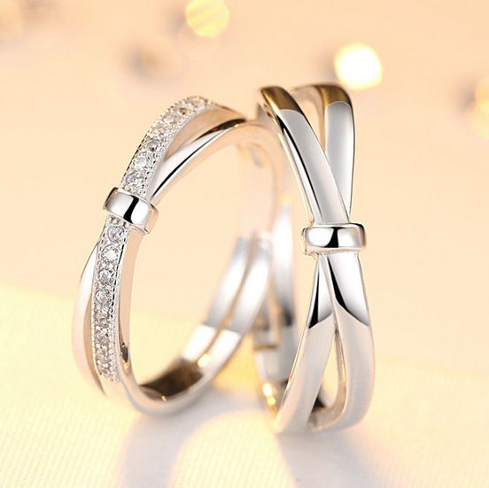9ce1b61893 lovers ring lettering bowknot opening ring men and women to buddhist  monastic discipline mouth silver ornaments
