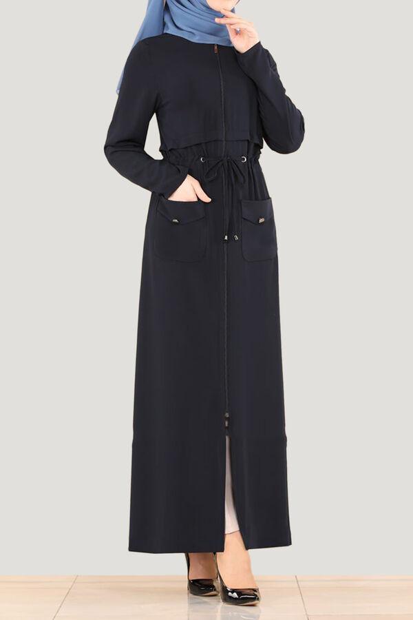 جلباب كحلي مديني تسوق أون لاين حجاب مودانيسا أزياء محجبات ملابس محجبات فساتين جلباب عباية ملابس فست Muslim Women Clothing Abaya Dress Islamic Clothing