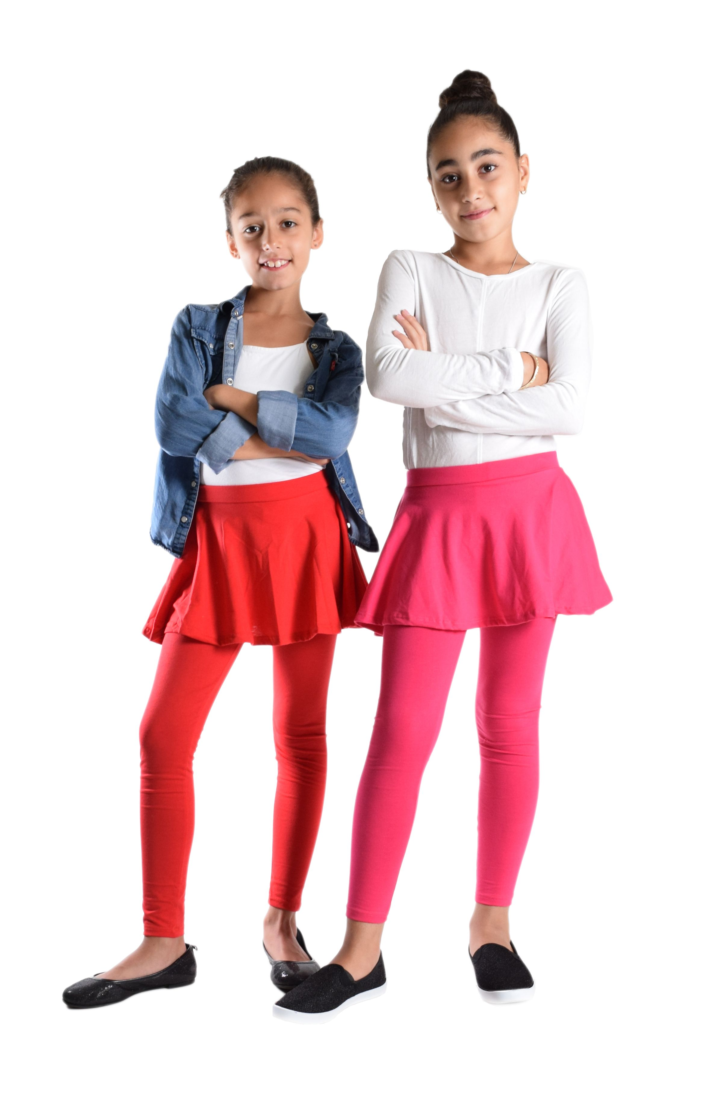b79f8a032ba66 NewMarkdow in #GirlsFashion. Girls Solid Color #Skirted Leggings ...