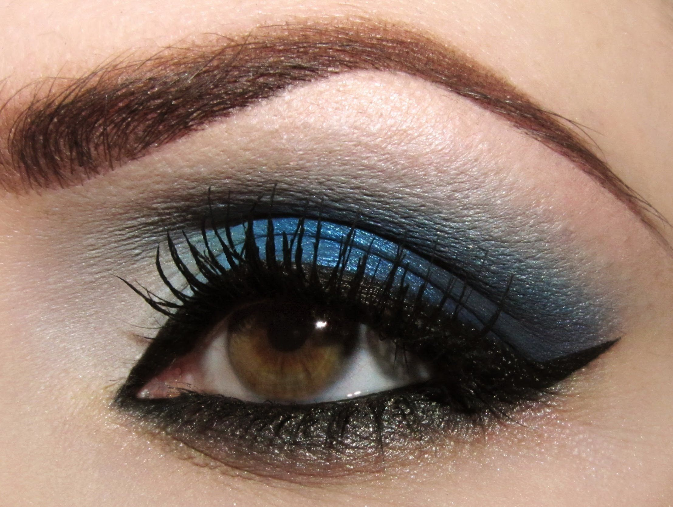 Makeup Tutorial Navy Blue Drama Eye makeup pictures