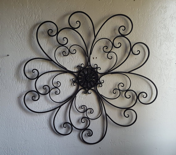 This Beautiful Wrought Iron Scroll Wall Hanging Would Look Great