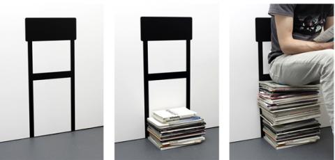 Unique Stuhl aus Zeitungen Wandtattoo zum Selbermachen