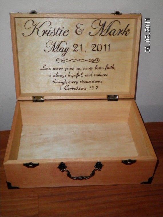 Wood Keepsake Trinket Box Tree Artwork Engraved Decorative Scrolls Custom Personalised Custom Light Oak Rustic Box