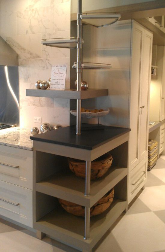 open kitchen shelves - contemporary corner shelf with open bottom and  wedge-shaped upper shelves