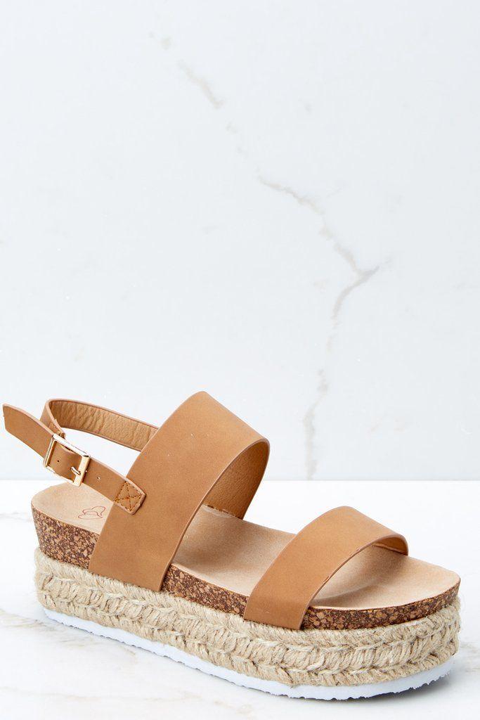 55eff2d30abc Stylish Tan Flatform Sandals - Platform Wedge Sandals - Shoes -  34.00 – Red  Dress Boutique