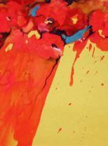 """""""Mohn"""", auf Ingres, mit Passepartout 50 x 70 cm"""