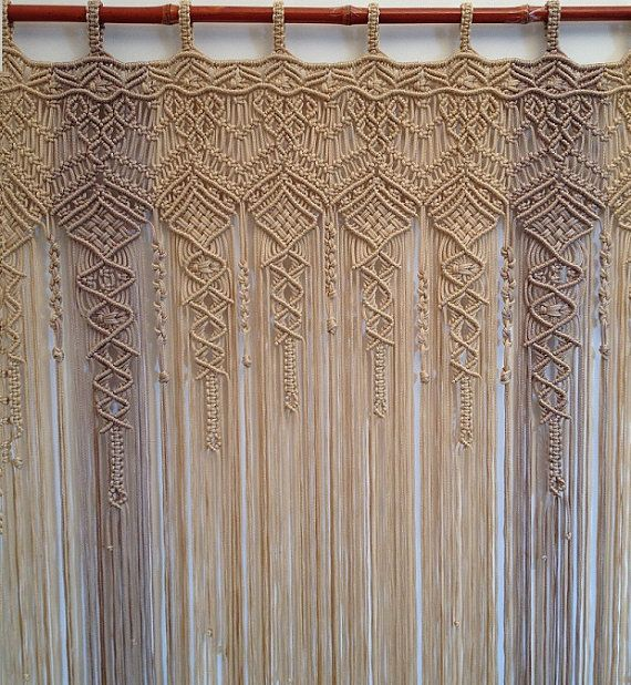 Macrame Curtain Large macrame multicolor by ...