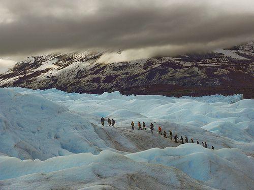 El Glaciar Perito Moreno, Argentina.