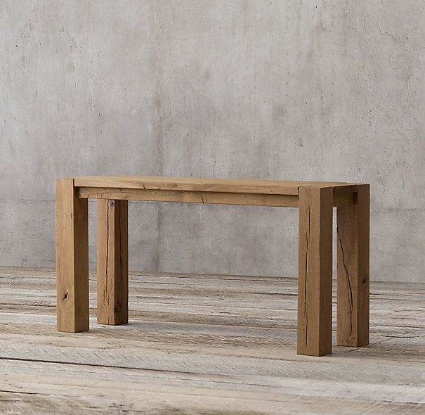 Reclaimed Russian Oak Parsons Console Table In 2019