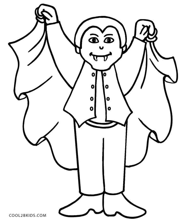 Printable Vampire Coloring Pages For Kids | Cool2bKids ...