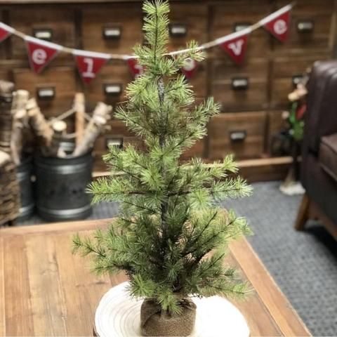 Perfect faux Christmas tree to frame your buffet table or mantle