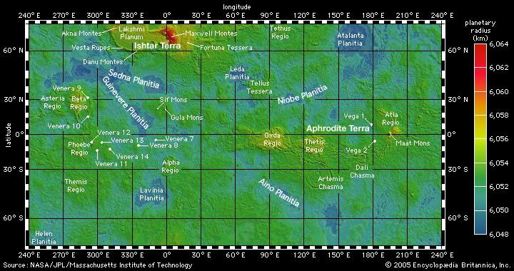 25b. Elevation Map of Venus. | The Final Frontier | Map, The final on