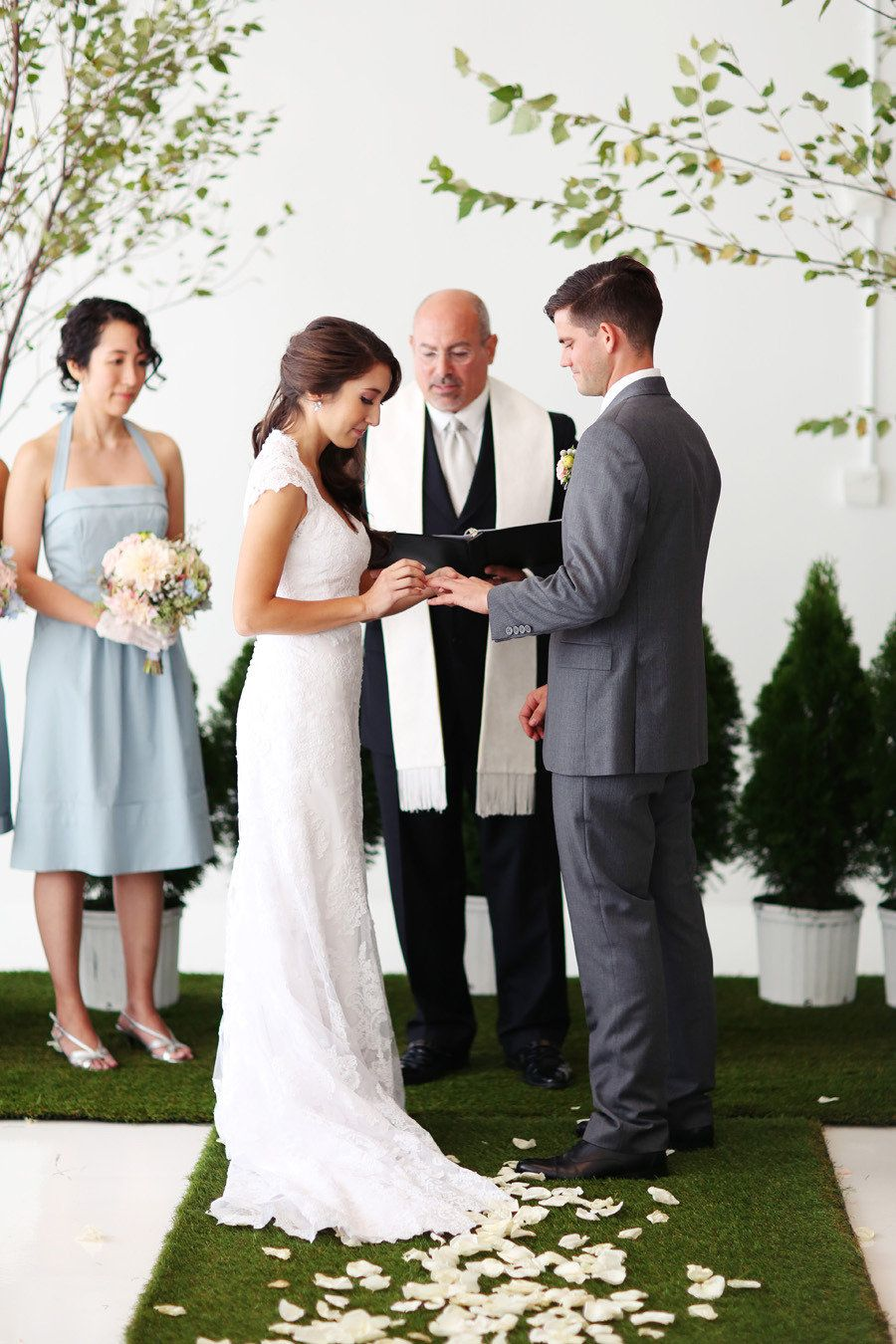 Best dress to wear to a garden wedding  NYC Indoor Garden Wedding from Angelica Glass  Floral designs