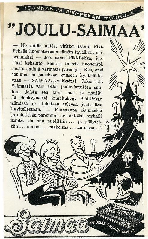 Joulu-Saimaa, Strengberg #joulu #joulukuuset #Saimaa #savukkeet