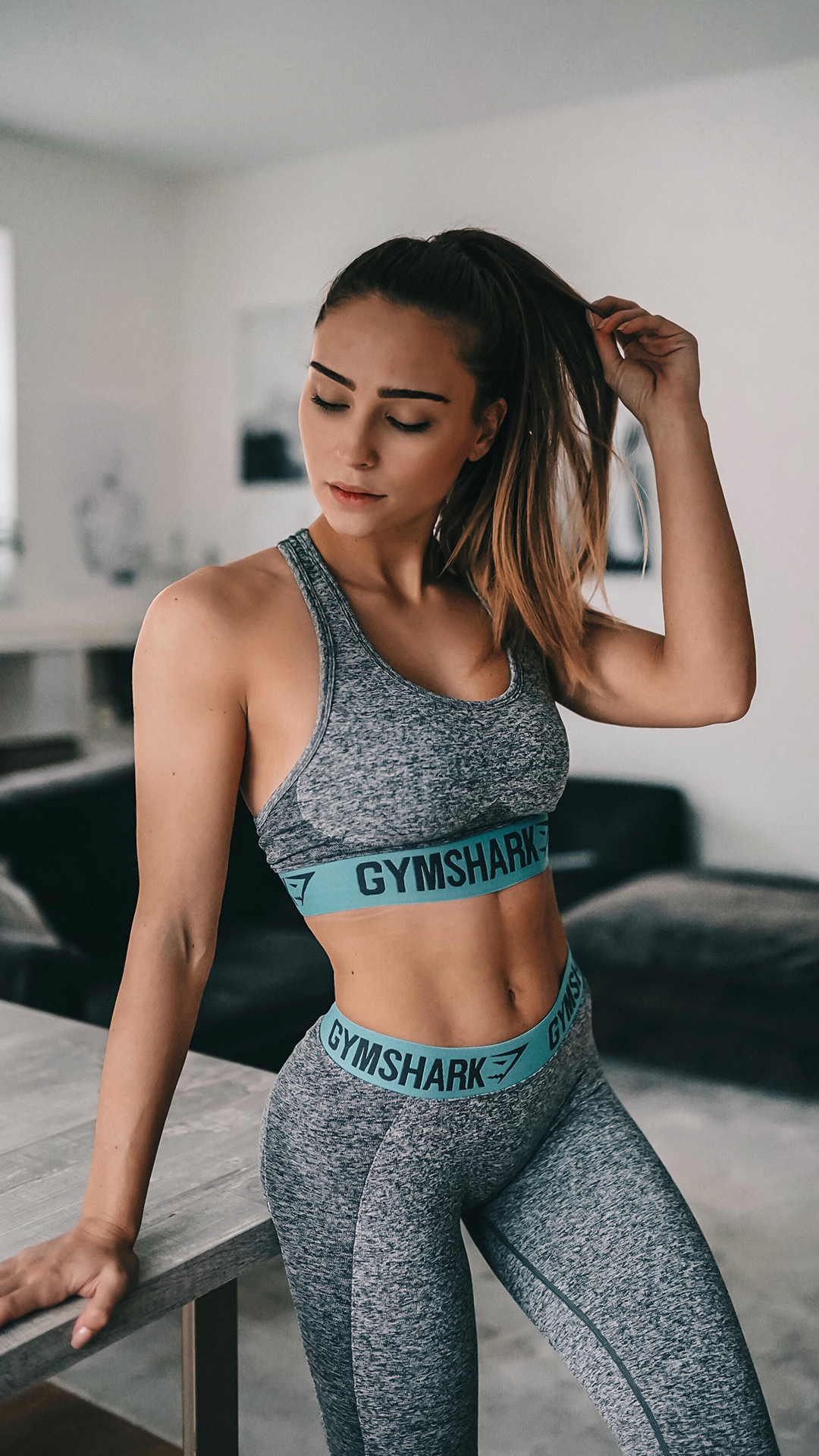 e0c6cc76f Evelina sports the Flex Sports Bra and Leggings for her rest day. New  colours coming soon!  Gymshark  Gym  Sweat  Train  Perform  Seamless   Exercise ...