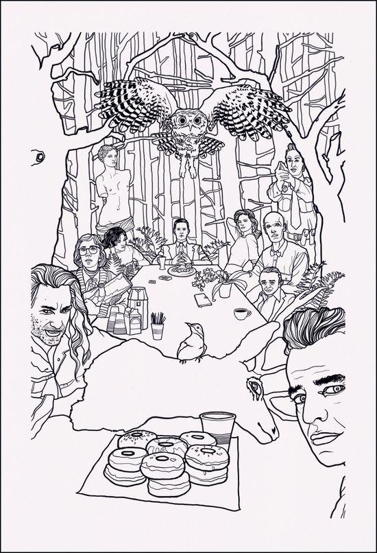 Twin peaks art print its like a coloring sheet