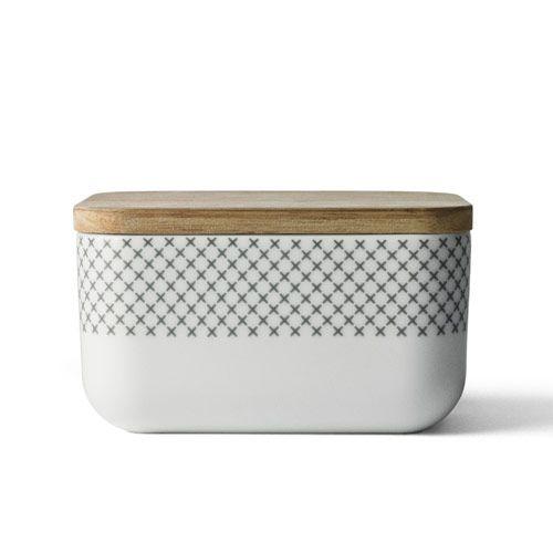 beurrier en porcelaine couvercle bois stitches menu wishlist cecile et manu pinterest. Black Bedroom Furniture Sets. Home Design Ideas