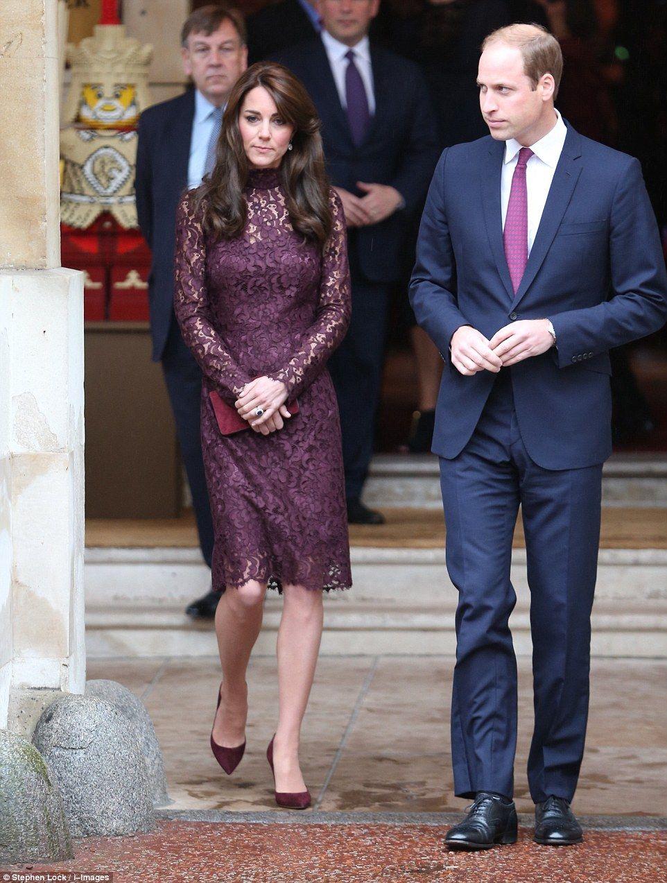 Lace dress kate middleton  Kate Middleton and Prince William  Kate  Pinterest  Plum lace