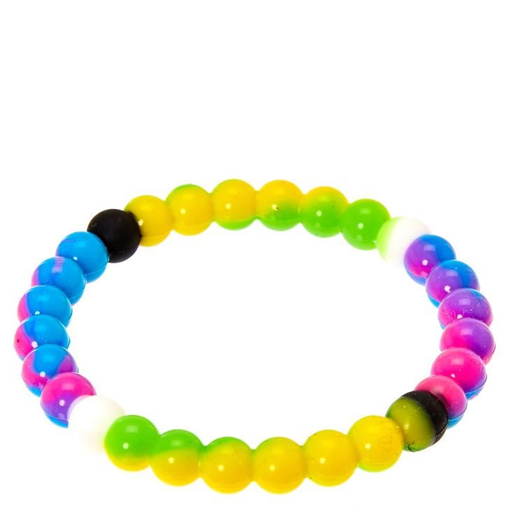 Rainbow Marble Fortune Stretch Bracelet