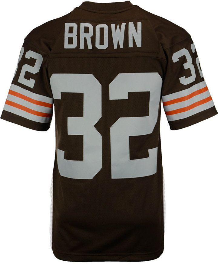 competitive price 86fe0 2375a Mitchell & Ness Men's Jim Brown Cleveland Browns Replica ...