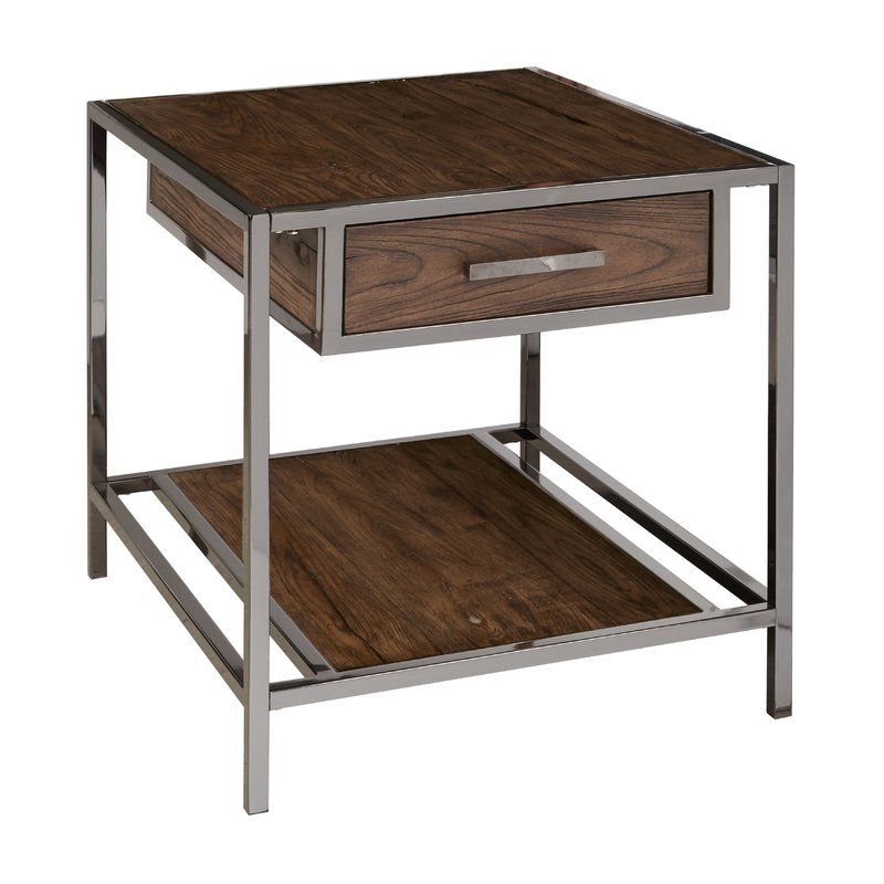 Falkner Modern Industrial Style Wood And Smoked End Table идеи для дома для дома дом
