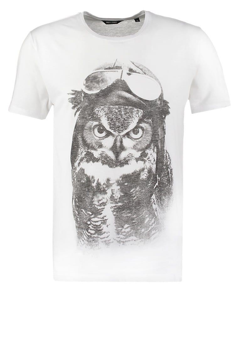 Pedir Only & Sons ONSOWL - Camiseta print - white por 14,95 € (8/06/16) en Zalando.es, con gastos de envío gratuitos.
