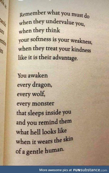 Kindness is not weakness - FunSubstance