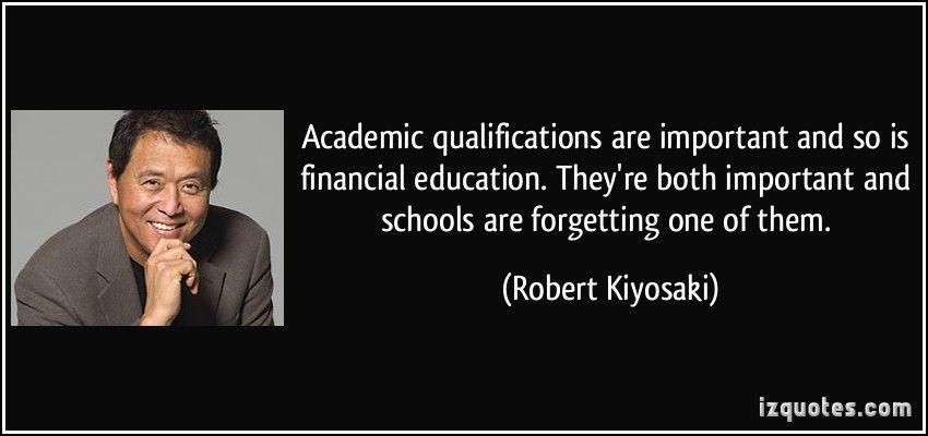 financial education robert kiyosaki pdf