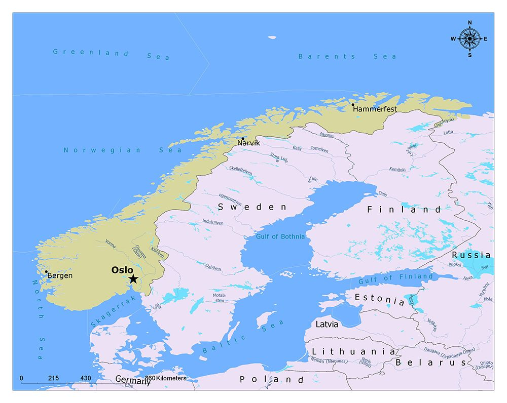 What Is The Capital Of Norway Capital Of Norway Hammerfest Norway