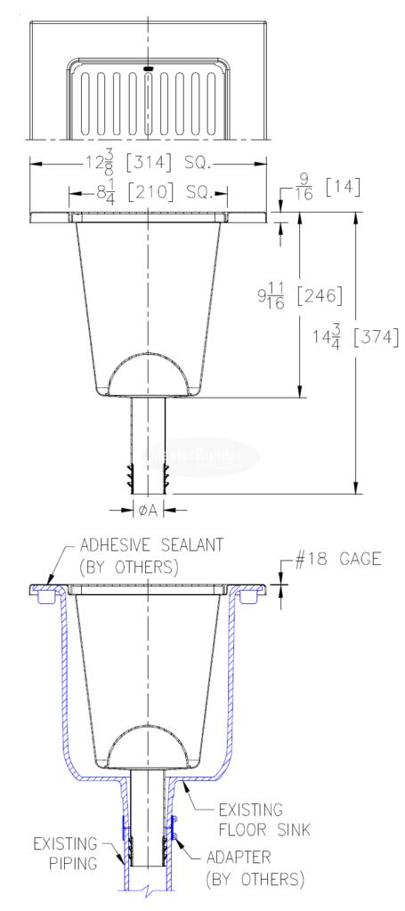 Zurn Z1902 Rl 12 Floor Sink Flooring Universal Design