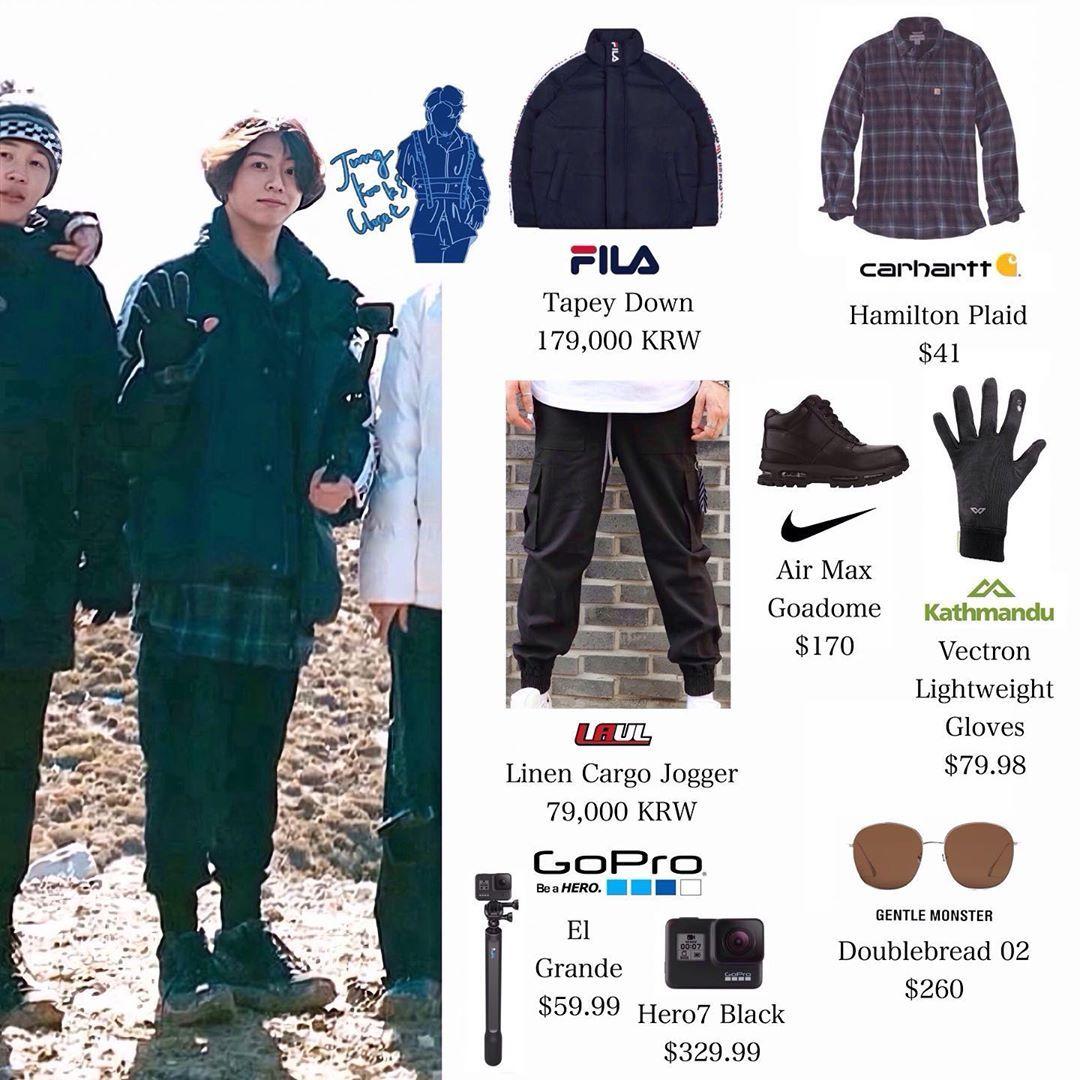 Official Jungkook S Closet On Instagram 191203 Bon Voyage Season 4 Preview Jungkook Wears Fila Bts Inspired Outfits Bts Clothing Korean Fashion Men