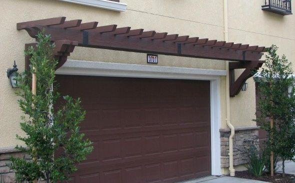 Fypon PVC Trellis System Over Garage Door | Garage door ...