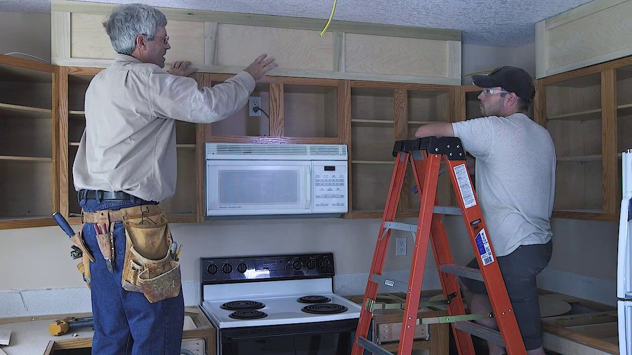 Kreg kitchen makeover series part how to extend your cabinets for