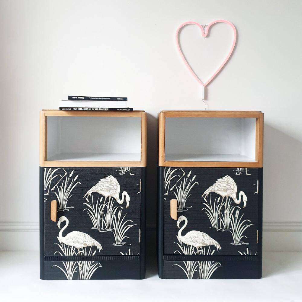 Best Vintage Upcycled Retro Mid Century Flamingo Bedside 640 x 480