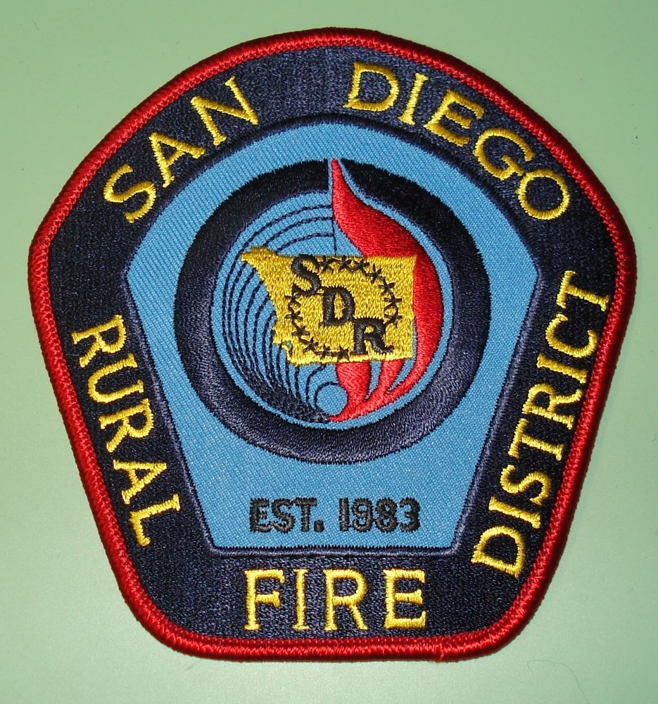 California Fire Patch - San Diego County Rural Fire District