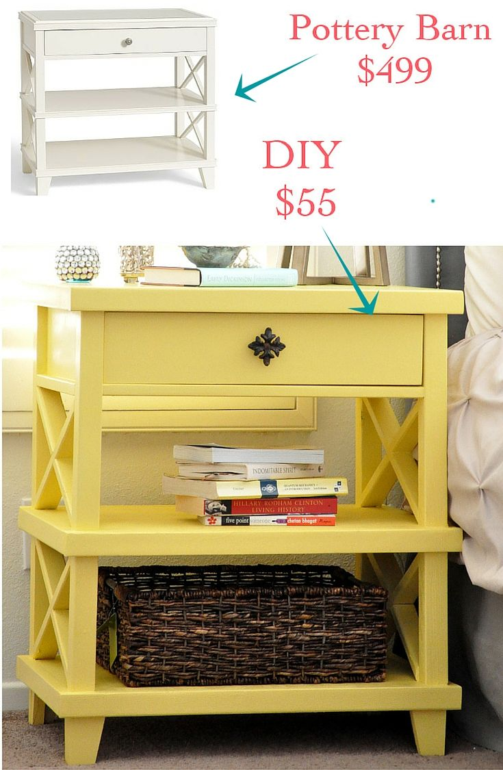 DIY Clara Lattice bedside table with Free Plans - Anika's DIY Life