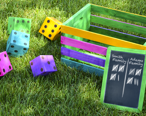 DIY Yard Dice For Making Your Own Life Size Outdoor Games!   Use Wood