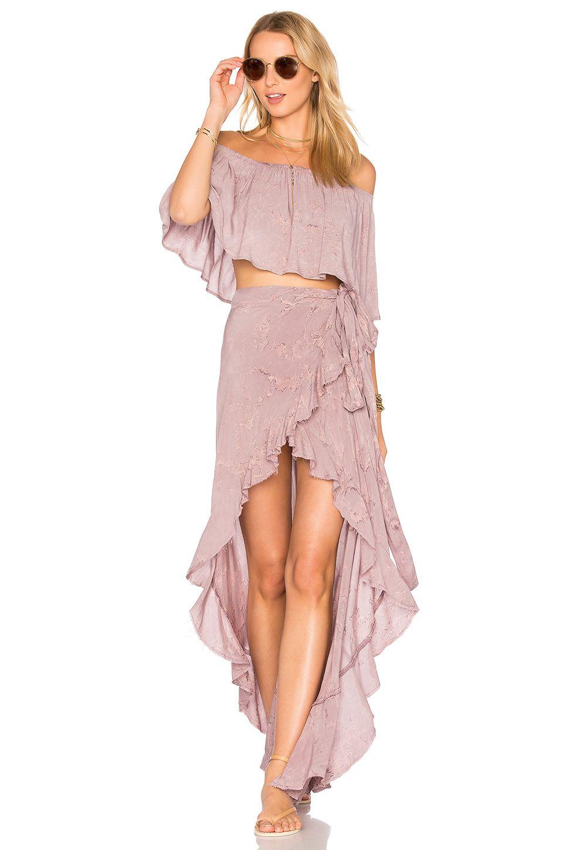 Blue Life Aura Wrap Skirt en Rain Violet   REVOLVE   Polyvore ...