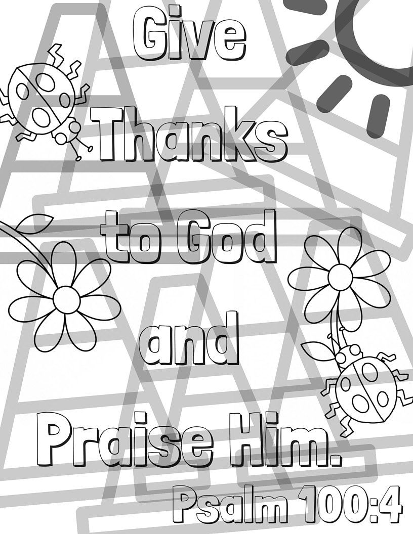 Psalm 1004 Bible Verse Coloring Page for Kids Psalm 100 Letter