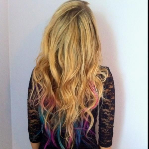 rainbow hair! Blondes can get away w/the pastels but Brunettes should do lightened tips in peacock colors