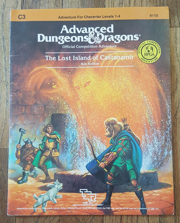 Advanced D D The Lost Island Of Castanamir Module C3 Vintage 1984