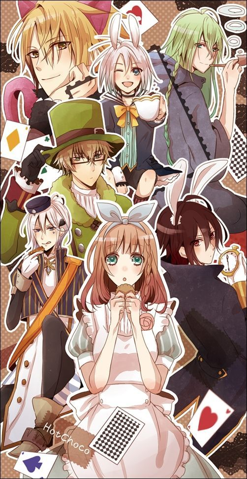 Amnesia Toma, Shin, Orion, Ikki, Kent, Ukyo and heroine