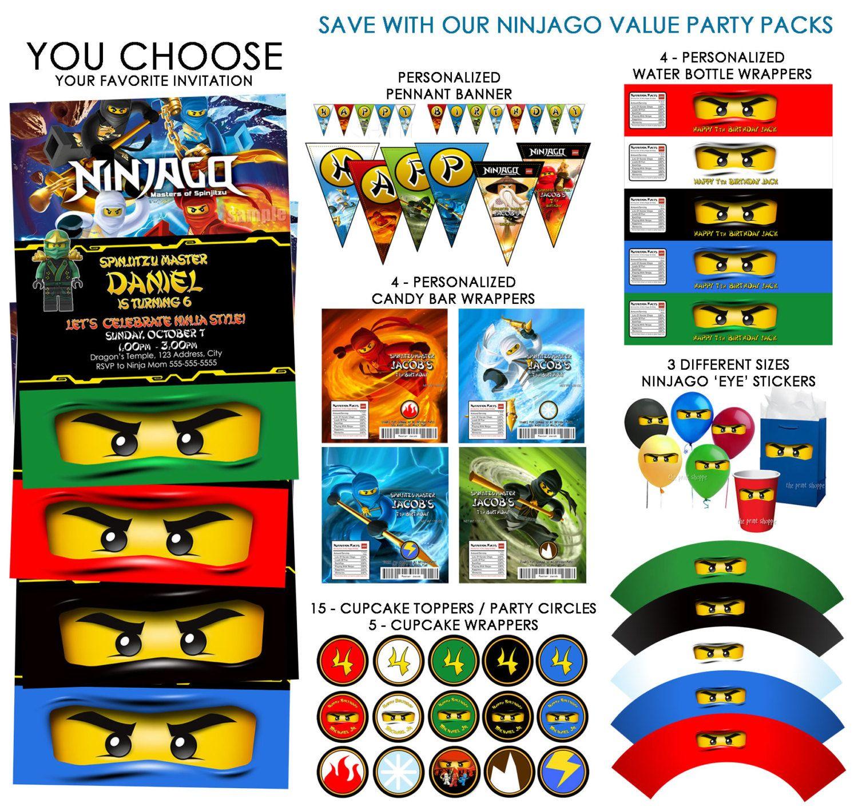 Lego Ninjago Birthday Party Google Search: Ninjago Banner Ninjago Party Decoration By